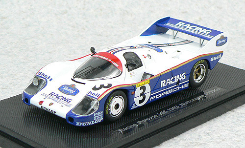 Ebbro 43889 Racing Porsche 956 1983 Nurburgring 1000km (White/Blue) 1/43 Scale