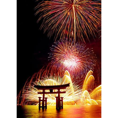 Epoch Jigsaw Puzzle 79-105s Miyajima Fireworks Hiroshima Japan (500 Pieces)