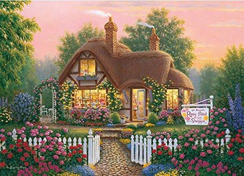 APPLEONE Jigsaw Puzzle 500-251 Richard Bums Rose Petol Shoppe (500 Pieces)