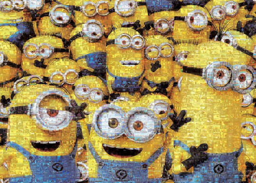 Epoch Jigsaw Puzzle 06-094s Despicable Me Minions Mosaic Art (500 Pieces)