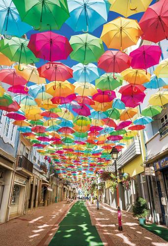 Epoch Jigsaw Puzzle 25-167 Umbrella Street Portugal (300 Pieces)