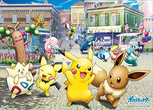 Ensky Jigsaw Puzzle 300-L548 Pokemon Everyone's Story Fuura City (300 L-Pieces)