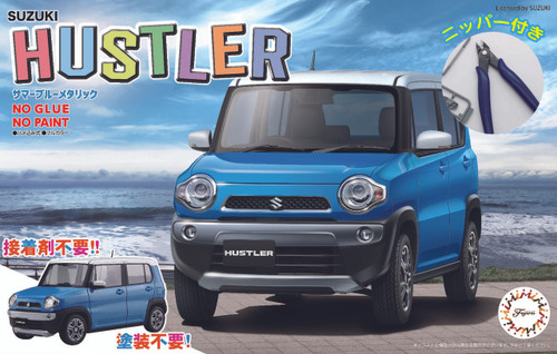 Fujimi 066110 Suzuki Hustler (Summer Blue Metallic) Special ver. w/ Nipper 1/24 Scale kit