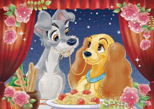 Epoch Jigsaw Puzzle Decoration 72-012 Disney Lady & the Tramp (108 Pieces)