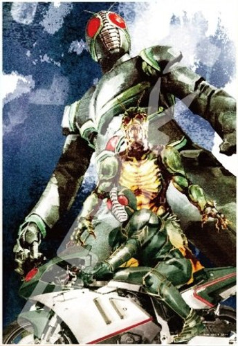 Ensky Jigsaw Puzzle 300-1362 Kamen Masked Rider Yoshihito Sugahara (300 Pieces)