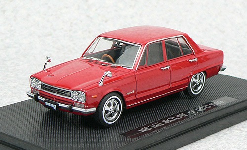Ebbro 43937 NISSAN SKYLINE 2000GT GC10 1968 Red 1/43 Scale