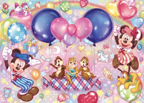 Tenyo Japan Jigsaw Puzzle D-500-490 Disney Balloon Paradise Photogenic (500 Pieces)