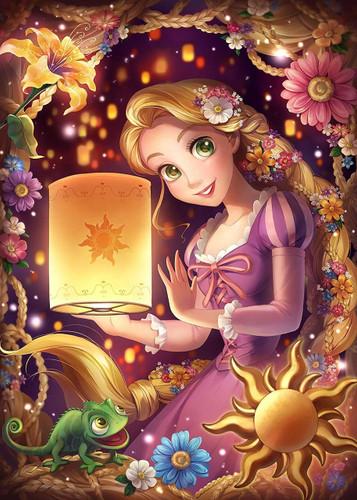 Tenyo Japan Jigsaw Puzzle D-500-483 Disney Tangled Rapunzel (500 Pieces)