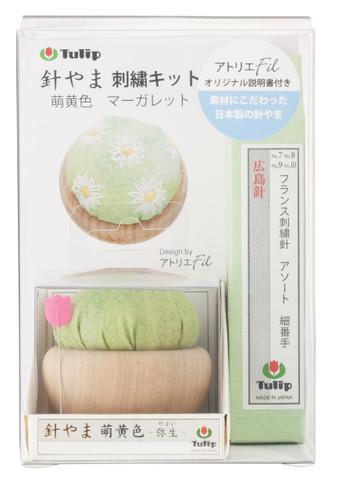 Tulip PK-002 Pincushion Embroidery Kit (Margaret Light Green) with Hiroshima Needles