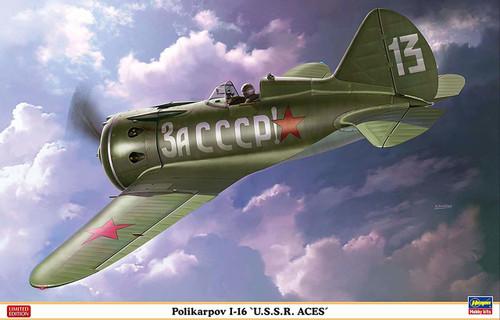 Hasegawa 08256 Russian Navy Polikarpov I-16 USSR Aces 1/32 Scale kit