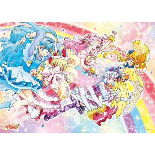 Ensky Jigsaw Puzzle 300-L550 Hugtto! PreCure Let's Jump Together (300 L-Pieces)