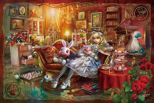 APPLEONE Jigsaw Puzzle 300-336 Alice in Wonderland Library (300 Pieces)