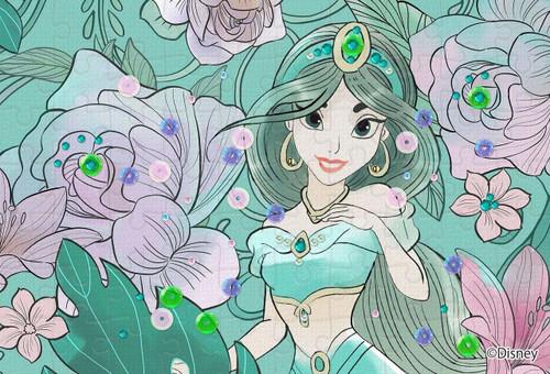 Epoch Jigsaw Puzzle Decoration 70-019 Disney Jasmine Royal Floral (70 Pieces)