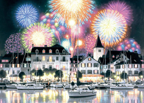 Epoch Jigsaw Puzzle 54-708 Teppei Sasakura Bouquet of Night Sky Fireworks (2000 S-Pieces)