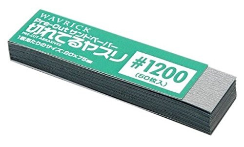 Wave Materials HT655 Pre-Cut Abrasives (sandpaper) #1200 (50 sheets)