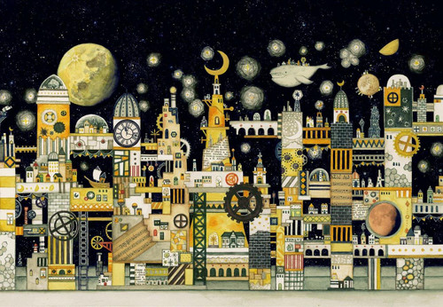 Epoch Jigsaw Puzzle 26-297 Noriko Nishimura Fairy Tale Art Moon Civilization (300 Pieces)