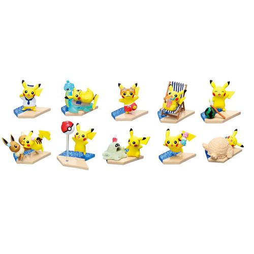 Pokemon Center Original Mini Figure Collection Pikachu Seaside Complete BOX  713