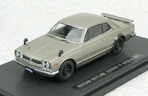 Ebbro 44025 NISSAN SKYLINE GT-R KPGC10 Silver 1/43 Scale