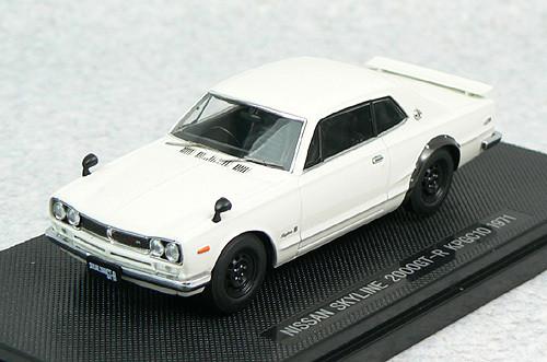 Ebbro 44026 NISSAN SKYLINE GT-R KPGC10 White 1/43 Scale