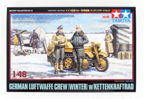 Tamiya 32412 German Luftwaffe Crew (Winter) w/ Kettenkraftrad 1/48 Scale Kit