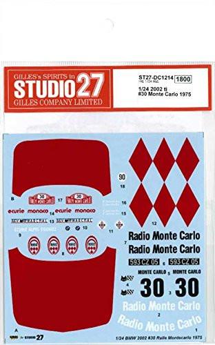 Studio27 ST27-DC1214 2002 ti #30 Monte Carlo 1975 Decal for Hasegawa 1/24