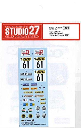 Studio27 ST27-DC1215 002 ti #61 Fall/wood Tour de France 1971 Decal for Hasegawa 1/24