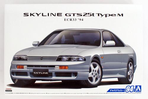 Aoshima 56547 The Model Car 94 NISSAN ECR33 Skyline GTS25t Type M '94 1/24 scale kit