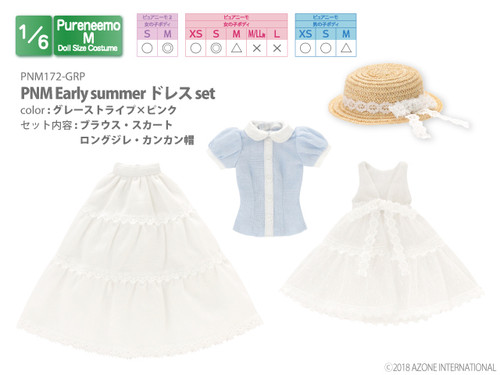 Azone PNM172-WHB 1/6 Pure Neemo M Early Summer Dress White x Light Blue