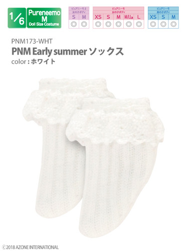 Azone PNM173-WHT 1/6 Pure Neemo M Early Summer Socks White