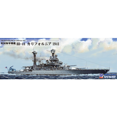 Pit-Road Skywave W-187 USS Battleship BB-44 California 1941 1/700 Scale kit