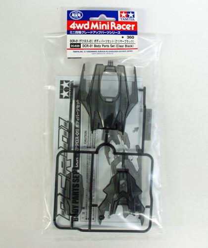 Tamiya Mini 4WD 95408 DCR-01 Body Set (Clear Black)