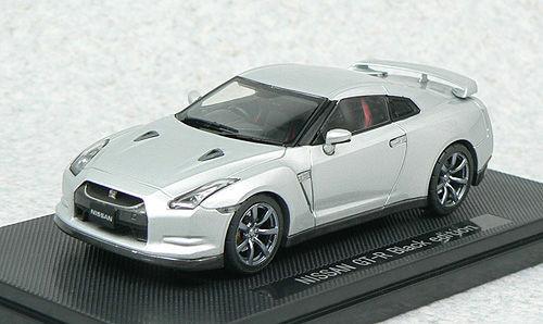 Ebbro 44100 NISSAN GT-R R35 Black Edition Silver 1/43 Scale