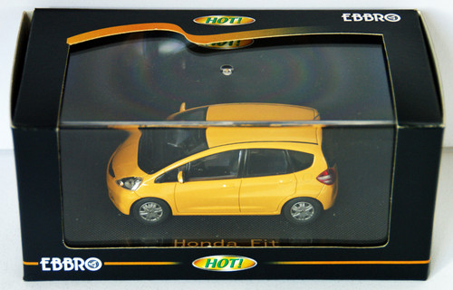 Ebbro 44104 Honda Fit (Yellow) 1/43 Scale