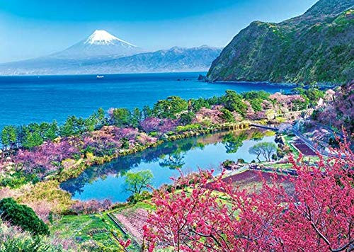 APPLEONE Jigsaw Puzzle 500-252 Hana Peach Mt. Fuji Shizuoka Japan (500 Pieces)
