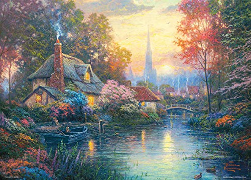 Beverly Jigsaw Puzzle 66-105 Thomas Kinkade Floral Scent Cottage (600 Pieces)