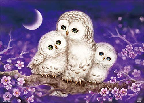 Beverly Jigsaw Puzzle 66-102 Owl Family in the Moonlight (600 Pieces)