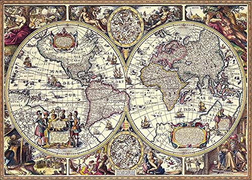 Beverly Jigsaw Puzzle 66-101 Antique Map (600 Pieces)