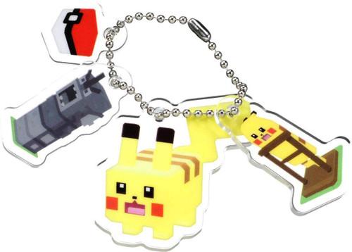 Takara Tomy Pokemon Quest Pokexel Acrylic Mascot Pikachu