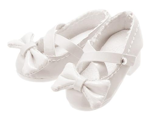 Azone AKT085-WHT Ribbon Cross Strap Shoes (White)