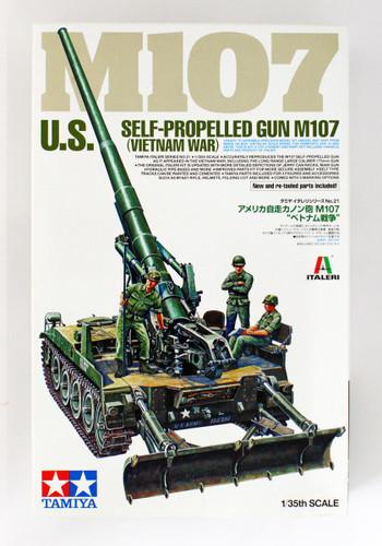 Tamiya 37021 U.S. Self-Propelled Gun M107 (Vietnam War) 1/35 scale kit