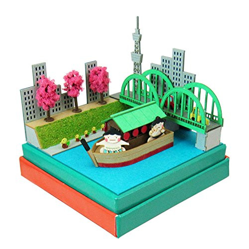 Sankei MP05-20 Sumo Wrestler and Yakatabune Non-Scale Miniature Art Paper Kits