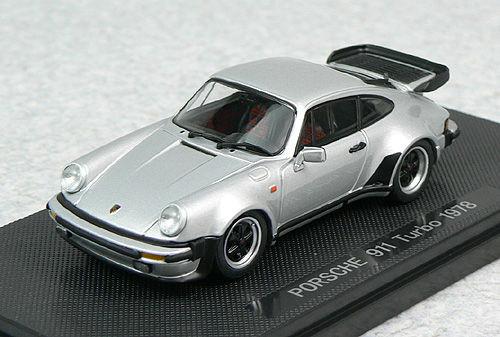Ebbro 44141 PORSCHE 911 TURBO 1978 Silver 1/43 Scale