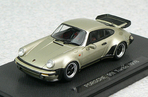 Ebbro 44143 PORSCHE 911 TURBO 1978 Gold 1/43 Scale
