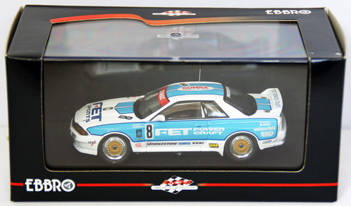 Ebbro 44157 Fet Skyline Gr.A 1993 (White/Blue) 1/43 Scale