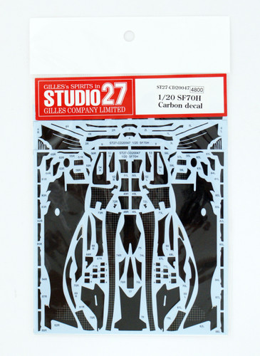 Studio27 ST27-CD20047 SF70H Carbon Decal for Tamiya 1/20 Scale