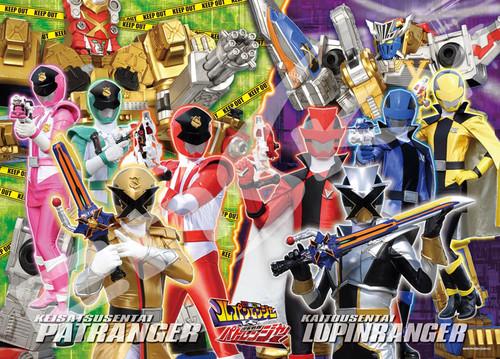 Ensky Jigsaw Puzzle 300-L549 Kaitou Sentai Lupinranger VS Keisatsu Sentai Patranger (300 L-Pieces)