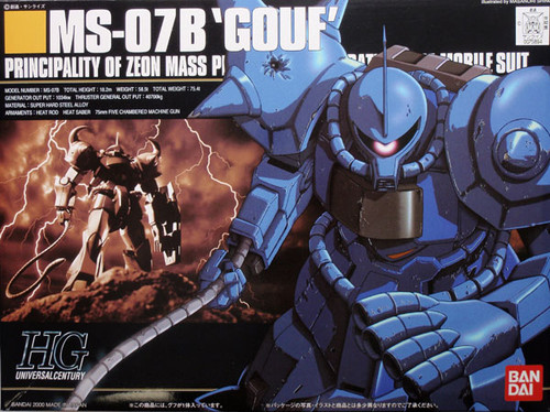 Bandai HGUC 009 Gundam MS-07B GOUF 1/144 Scale Kit