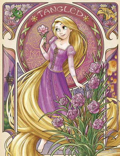 Yanoman Jigsaw Puzzle 42-55 Disney Fleur Rapunzel (300 Small Pieces)