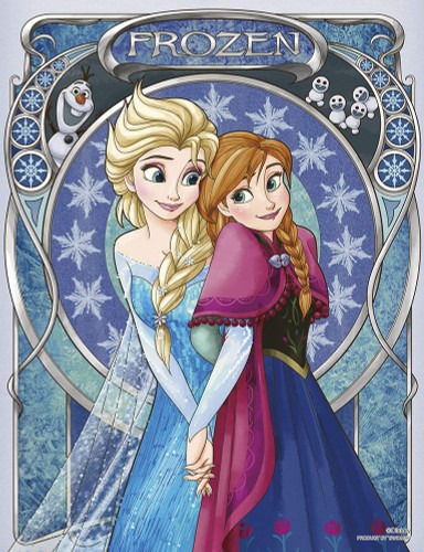 Yanoman Jigsaw Puzzle 42-54 Disney Famille Frozen Anna & Elsa (300 Small Pieces)