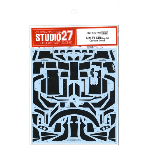 Studio27 ST27-CD24010 F1 GTR (Short Tail) Carbon Decal for Fujimi 1/24 Scale